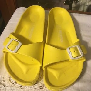 Birkenstock Yellow Rubber Sandals Size 10